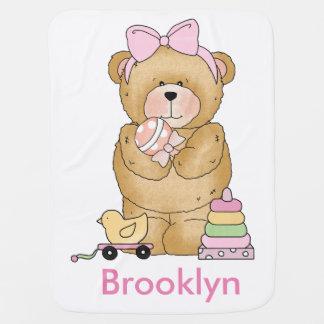 Manta Para Bebe Presentes personalizados do urso de ursinho de