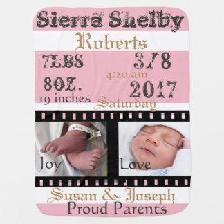 Manta Para Bebe Primeira cobertura personalizada do bebê do filme