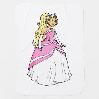 Manta Para Bebe Princesa bonita na imagem cor-de-rosa dos