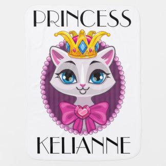 Manta Para Bebe Princesa Gatinho Gato Cobertura da diva