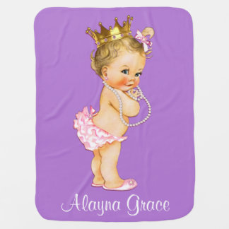 Manta Para Bebe Princesa personalizada Bebê Dobro Sided