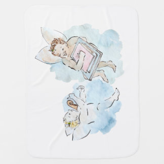 Manta Para Bebe Querubim - anjinhos