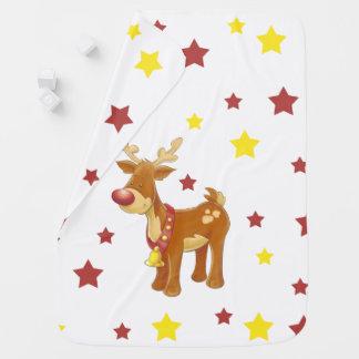 Manta Para Bebe Rudolph as estrelas cheiradas vermelhas do Natal