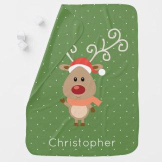 Manta Para Bebe Rudolph bonito os desenhos animados cheirados