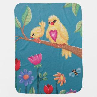 Manta Para Bebe Seja pássaro de bebê bravo! Design doce do pássaro