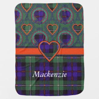 Manta Para Bebe Tartan do Scottish da xadrez do clã de Mackenzie