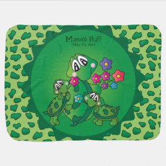 Manta Para Bebe Tartaruga bonito de Momma dos desenhos animados e