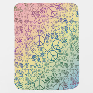 Manta Para Bebe Teste padrão do design do símbolo de paz do