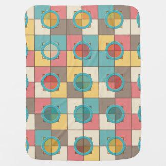 Manta Para Bebe Teste padrão geométrico colorido