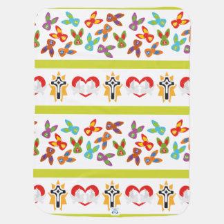 Manta Para Bebe Teste padrão psicótico da páscoa colorido