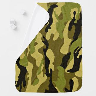 Manta Para Bebe Textura verde do exército da camuflagem
