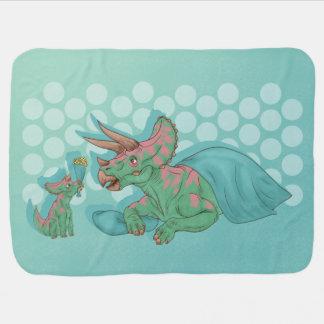 Manta Para Bebe Triceratops que dá flores