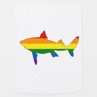 Manta Para Bebe Tubarão do arco-íris