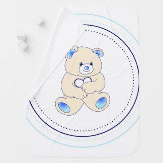Manta Para Bebe Urso do bebê azul - menino
