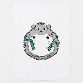 Manta Para Bebe Vida do porco - ouriço bonito na tiragem das meias