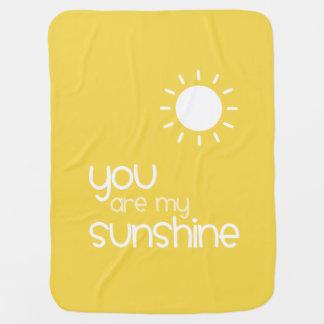 Manta Para Bebe Você é meu bebê do amarelo da luz do sol