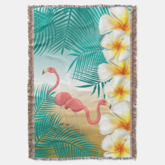 Manta Paraíso tropical da praia dos flamingos