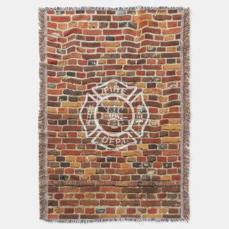 Manta Parede de tijolo do logotipo do sapador-bombeiro