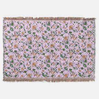 Manta Raposas de Fennec no rosa