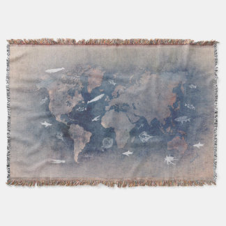 Manta sealife do mapa do mundo