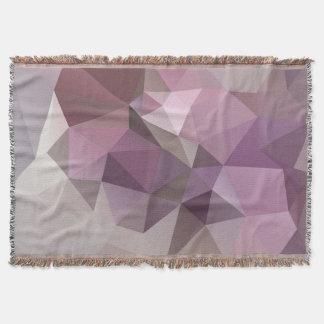 Manta Teste padrão cor-de-rosa, roxo cinzento do