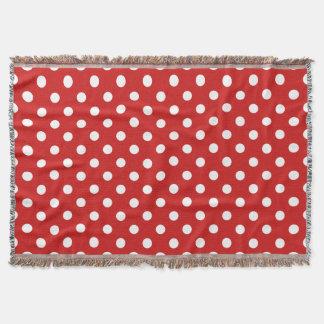 Manta Teste padrão de bolinhas vermelho e branco