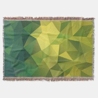 Manta Teste padrão poligonal verde-amarelo.