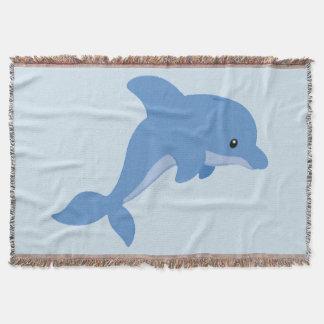 Manta Um golfinho feliz bonito