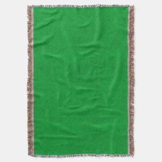 Manta Verde de grama de néon do olhar de veludo da cor
