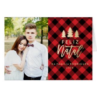 Manta Vermelha Feliz | natal Cartão De Natal