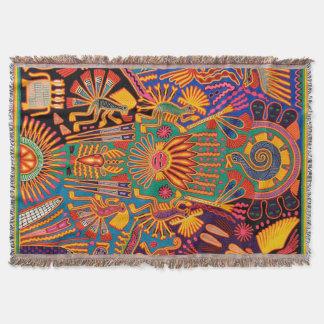 Manta Viagem tribal maia mexicano de Boho da arte de