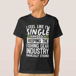Mantendo a indústria de pesca financeira forte camiseta
