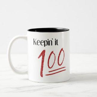 Mantendo o caneca 100