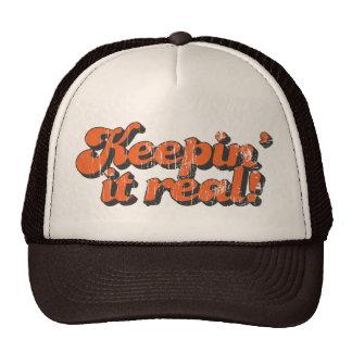Mantendo o chapéu real do camionista bones