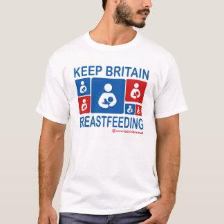 Mantenha a amamentação de Grâ Bretanha Camiseta