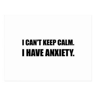 Mantenha a ansiedade calma cartão postal