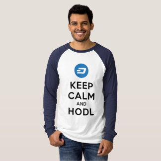 Mantenha a calma & a camisa cripto do TRAÇO de