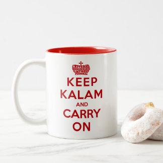 Mantenha a calma/a caneca de café apologética de