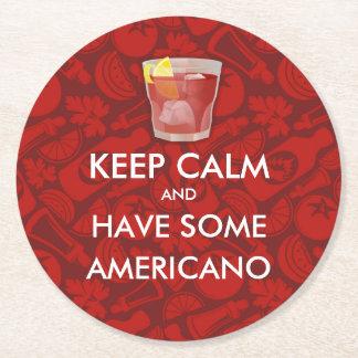 Mantenha a calma - Americano Porta-copo De Papel Redondo