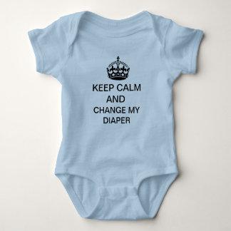 Mantenha a calma body para bebê