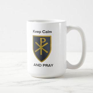 Mantenha a calma caneca de café