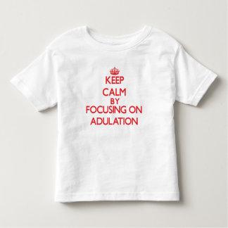 Mantenha a calma centrando-se sobre a adulação camiseta
