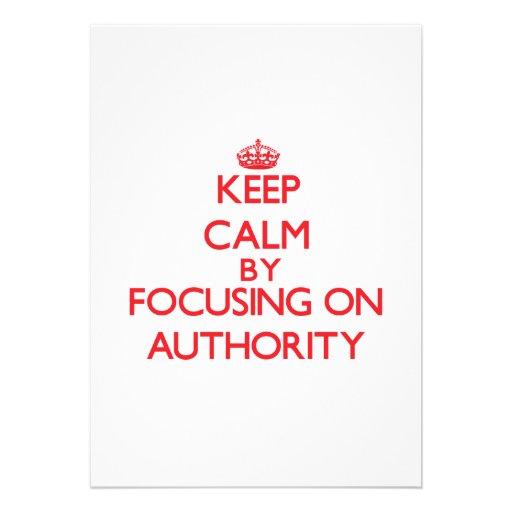 Mantenha a calma centrando-se sobre a autoridade convites personalizados