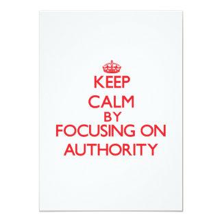 Mantenha a calma centrando-se sobre a autoridade convite 12.7 x 17.78cm