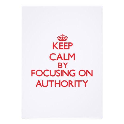 Mantenha a calma centrando-se sobre a autoridade convite