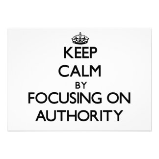Mantenha a calma centrando-se sobre a autoridade convite personalizados