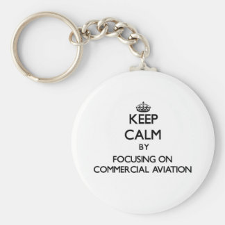 Mantenha a calma centrando-se sobre a aviação chaveiros