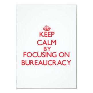 Mantenha a calma centrando-se sobre a burocracia convites personalizados