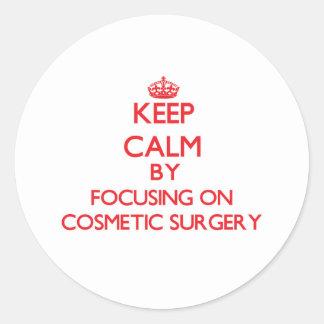 Mantenha a calma centrando-se sobre a cirurgia adesivo
