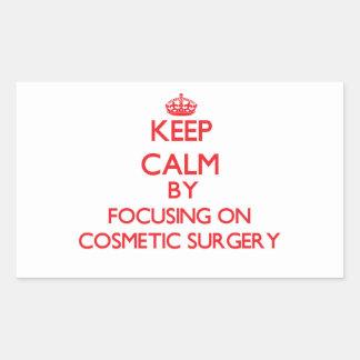 Mantenha a calma centrando-se sobre a cirurgia adesivo retangular